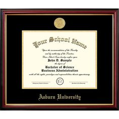Signature Announcements Old Dominion University Undergraduate Sculpted Foil Seal Graduation Diploma Frame 16 x 16 Cherry