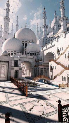 Mosque Architecture, Romanesque Architecture, Cultural Architecture, Sacred Architecture, Architecture Sketches, Architecture Wallpaper, Beautiful Architecture, Modern Architecture, Mecca Wallpaper