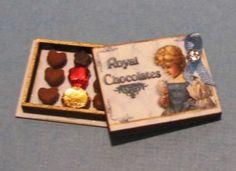"Dollhouse Miniature ""Royal Chocolates"" Candy Box Kit -- 1:12 Scale #DragonflyInternational"