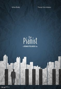 The pianist - Minimalist Version by on DeviantA.-The pianist – Minimalist Version by on DeviantArt I love this Minimalist version of The pianist poster! Creative Posters, Cool Posters, Film Posters, Band Posters, Piano Design, Graphisches Design, Flyer Design, Graphic Design Posters, Graphic Design Inspiration