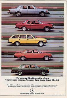 Publicité Mercedes-Benz 1980 - source Collectible Automobile Magazine.