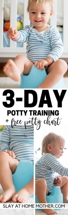 Potty Training In 3 Days + FREE Potty Chart - parentinghacks Parenting Toddlers, Good Parenting, Parenting Hacks, Potty Training Boys, Toilet Training, Training Tips, Baby Boy Toys, Baby Baby, Thing 1
