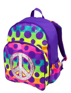 Rainbow Dot Backpack | Girls Rainbow Dot Backpacks & Supplies By Print | Shop Justice