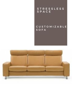 The Stressless Space Sofa offers customized options to meet your needs. Luxury Home Furniture, Furniture For You, Stress Less, Outdoor Sofa, Sofas, Meet, Space, Couches, Floor Space