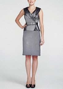 Refined yet stylish, this timeless sleeveless portrait collar dress will be a favorite for years to come! Sleeveless bodice features eye-catching and polished portrait collar. Embellished beaded waist detail adds charm and helps create a stunning silhouette. Classic pencil skirt elongates figure. Fully lined. Back zip. Imported poly/nylon/spandex blend. Dry clean.A shawl-like neckline that frames the collarbone with a wide, soft draping of fabric from the tip of one shoulder to the other.A…