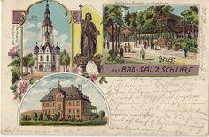 Bad Salzschlirf 1904. Karte dürfte aber  aus der Zeit ab 1895  stammen.