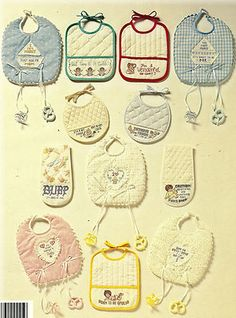 Bibs and Burps for Babies Cross stitch patterns
