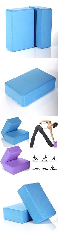 2Pcs. Yoga Block Foaming Foam Brick Stretching Aid Gym Pilates For Exercise Fitness (Light Blue)