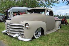 1952 chevy. Love that caddy bumper!