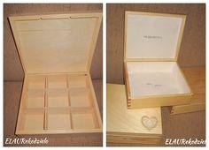 ELAU Rękodzieło: Nr 4/01/2017: Projekt ślubny - drewniane szkatułki...