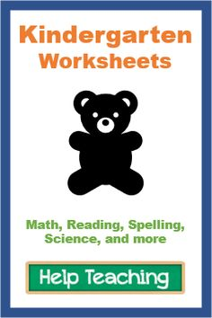 Online and printable kindergarten worksheets for math, reading, spelling, science, and more. Kindergarten Test, Kindergarten Math Worksheets, Science Worksheets, School Worksheets, Free Printable Worksheets, Printables, Help Teaching, Teaching Reading, Online Tests