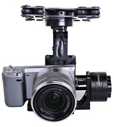 iFlight G40 Black Version 3 Axis Brussless Aerial Gimbal for Sony 5N,RX-100,BMPCC & Other Mirrorless Digital camera with Similar Size with Sony Camera