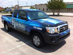 Ritchie Powersports Toyota Truck Wrap - Knoxville, TN #vehiclegraphics #vehiclewraps