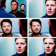(gif set) Castiel Returns From Purgatory [Just look at Dean's face, though. He's practically shattered. In case anyone was doubting how much Dean cares for Cas.]