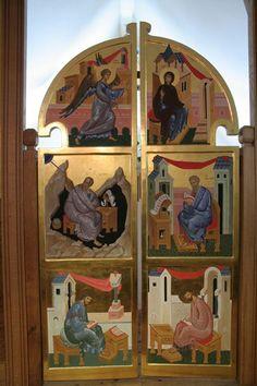 Royal Doors, Byzantine Icons, Orthodox Icons, Sacred Art, Giclee Print, Saints, Religion, Painting, Google