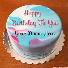 Wish You a Very Happy Birthday Special Cake With Name Birthday Wishes With Name, Happy Birthday Wishes Cake, Wish You Happy Birthday, Happy Birthday Celebration, Happy Birthday Greeting Card, Birthday Msgs, Bday Cake Images, Bday Cake Pics, Write Name On Cake