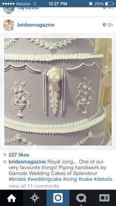 Royal icing cake detail - looks stunning