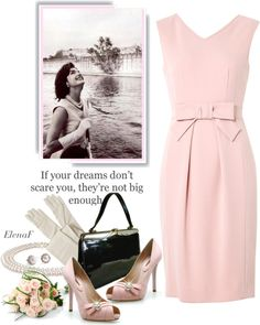 """""""Jacqueline Kennedy ."""" by elenaf ❤ liked on Polyvore"""