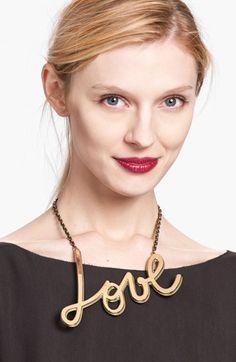 Lanvin 'Love' Chain Necklace