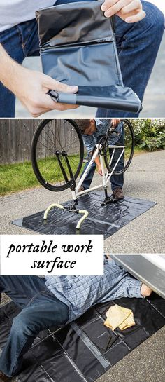 Change oil in the garage or change a bike chain inside. Catch paint whether you're painting a wall or working on crafts. The Matador Surface is a handy work tool to keep you organized and clean.