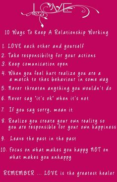 10 Ways To Keep Relationship Working #love #marriage #tips