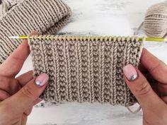 knitting elastic - New Ideas Baby Cardigan Knitting Pattern, Dishcloth Knitting Patterns, Knitting Stitches, Free Knitting, Baby Knitting, Crochet Patterns, Herringbone Stitch Tutorial, How To Purl Knit, Crochet Videos