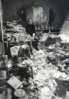 Francis Bacon in his Studio 1977