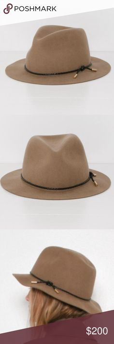 NWT Rag & Bone Abbott Fedora Brand new with tags. 100% authentic. Never worn. Color is Natural Camel. Size Large. So incredibly cute and stylish! Would fit anywhere from a standard medium to a large. Adorable black braided rope trim along crown with gold hardware at ends. rag & bone Accessories Hats