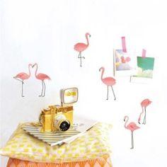 Planche de 12 flamants roses pour une décoration estivale - Mimi'lou