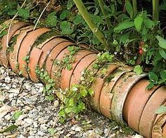 diy+garden+borders | DIY for the garden / Détourner les pots au jardin - Border les ...