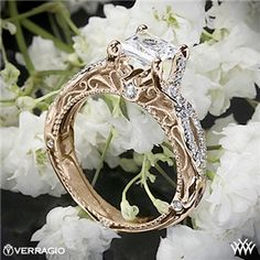 Verragio Pave Twist Diamond Engagement Ring OH MY GOODNESS GRACIOUS! I AM IN LOVE!!!!!!!! Forget any other ring i have ever pinned! Find me a man and tell him I want this! and only this! (BUT MAKE SURE ITS IN SILVER OR WHITE GOLD! ALLERGIC TO ANY OTHER HAHA)