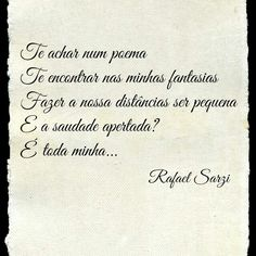 Amor frase poesia verso