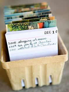 Creating a one sentence a day journal. I love this idea!!