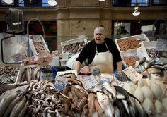 fish market in Jerez de la Frontera in Spain.