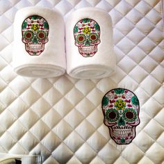 Sugar Skull Embroidered Saddle Pad & Polo by TheHoundstoothHorse