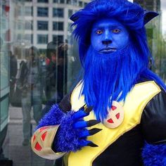Beast 2013 Vancouver Fan Expo I don't recall beast having a full beard but i have missed 20 odd years of Canon..... And really.... This guy was awesome. I have so much respect for anybody who quill endure an entire day painted blue... #beast #beastcosplay #hankmccoy #Henrymccoy #hankmccoycosplay #xmencosplay #xmen #blue #bluefur #Vancouverfanexpo #Vancouverfanexpo2013 #vfe #vfe2013 #bluebeast #cosplay #costume #Geoectomy