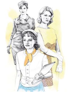 Illustration by Sara Hingle for Frankie magazine, March/April 2010.