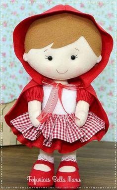 Sock Crafts, Felt Crafts, Diy Leather Wallet Pattern, Red Riding Hood Party, Softie Pattern, Felt Fairy, Felt Patterns, Soft Dolls, Felt Toys