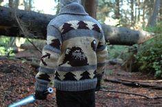 Battle of Endor Sweater (Back) Types Of Fibres, Craft Items, Spin, Custom Design, Battle, Fiber, Handmade Items, Men Sweater, Star Wars