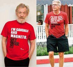 """Deal with it (smile) - """"I'm Gandalf & Magneto Get over it"""" #IanMcKellen vs """"I'm Han Solo, Indiana Jones & Blade Runner I'm fuckin over it"""" #HarrisonFord   « J'ai eu une chance inouïe. Le Harrison de La Guerre des étoiles a eu une sacrée veine de s'être trouvé un emploi, et le « vieux » Ford a de la chance d'avoir duré si longtemps. »  — Harrison Ford contre Harrison Ford #HanSolo #BladeRunner #StarWars #Harrison #Ford"""