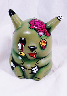 Zombie Pikachu decoration by LittleArtMonsterr on Etsy, $18.00