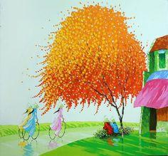 Мастихиновая живопись. Художница из Вьетнама Phan Thu Trang. Обсуждение на LiveInternet - Российский Сервис Онлайн-Дневников