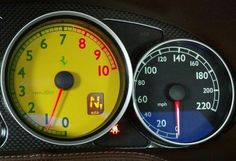 2013 Ferrari Gauges