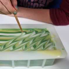Impressionistic Cold Process Handmade Soap Bar