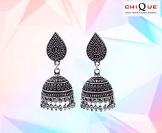 """Every woman must own pairs of jhumkas. Explore the exquisite collection of different types of Stylish Imitation Jhumka Earrings offered in the online store.....@https://goo.gl/nFcBAf  """"Stylish Imitation Jhumka Earrings"""" """"Stylish Silver Imitation Earrings"""""""