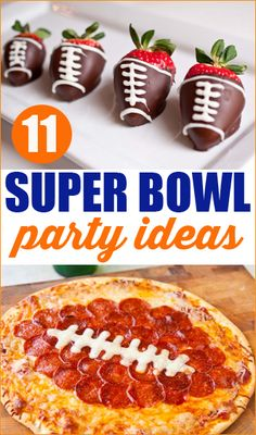 Super Bowl Party Ideas. Great food ideas for game day and fun football decorations.