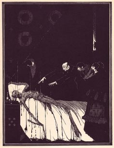 "Harry Clarke's illustrations for Edgar Allan Poe's 1919 edition of ""Tales of Mystery and Imagination""."
