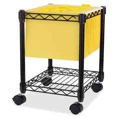 compact mobile wire filing cart holds lettersize hanging files use bottom shelf for