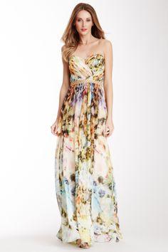 Printed Sweetheart Gown on HauteLook
