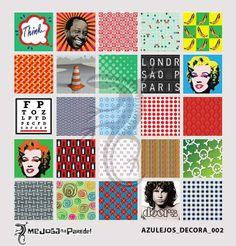 Azulejos Adesivos Decora nº 002 www.mejoganaparede.com.br